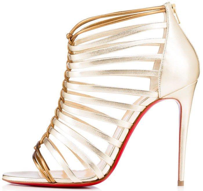 Christian Louboutin Milla 100 metallic leather sandal