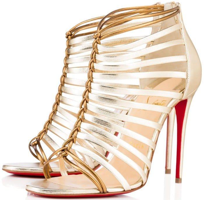 Christian Louboutin Milla 100 metallic leather sandals