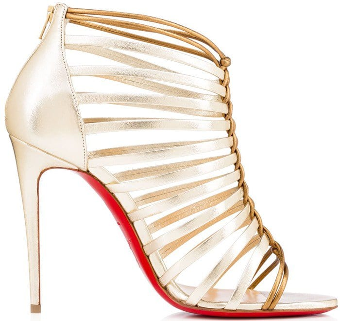 Christian Louboutin Milla 100 metallic sandals