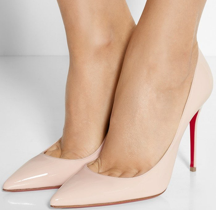 Christian Louboutin Pigalle Follies 100 suede pumps in baby pink