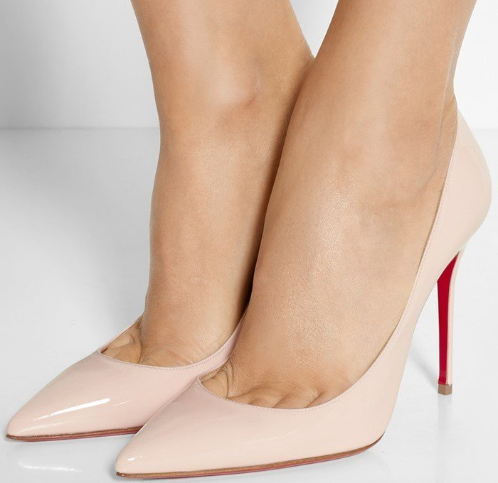 df96e3c6e078 Christian Louboutin Pigalle Follies 100 suede pumps in baby pink