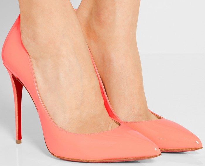 Christian Louboutin Pigalle Follies 100 suede pumps in pink