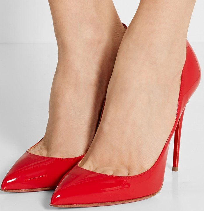 Christian Louboutin Pigalle Follies 100 suede pumps in red