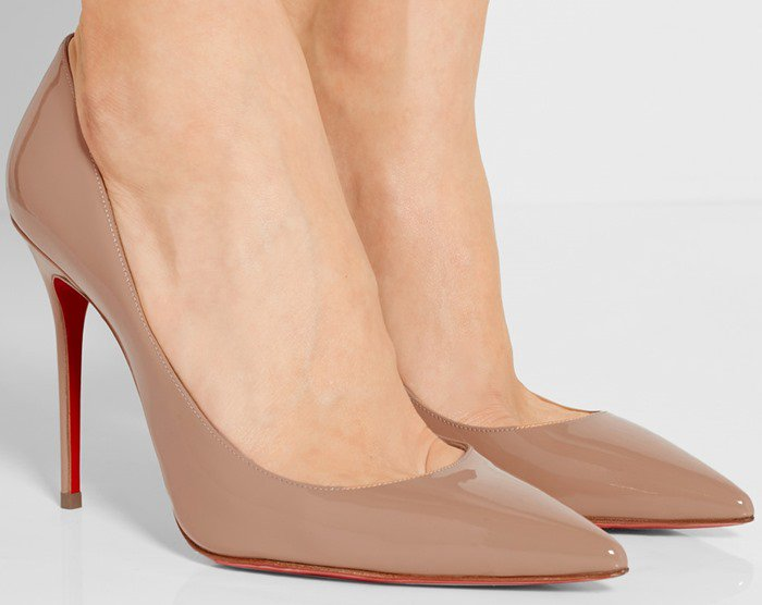 Christian Louboutin Pigalle Follies 100 suede pumps patent leather