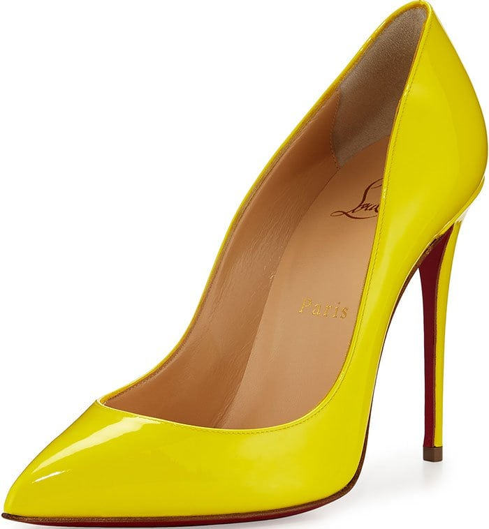 Christian Louboutin Pigalle Follies Pumps Yellow