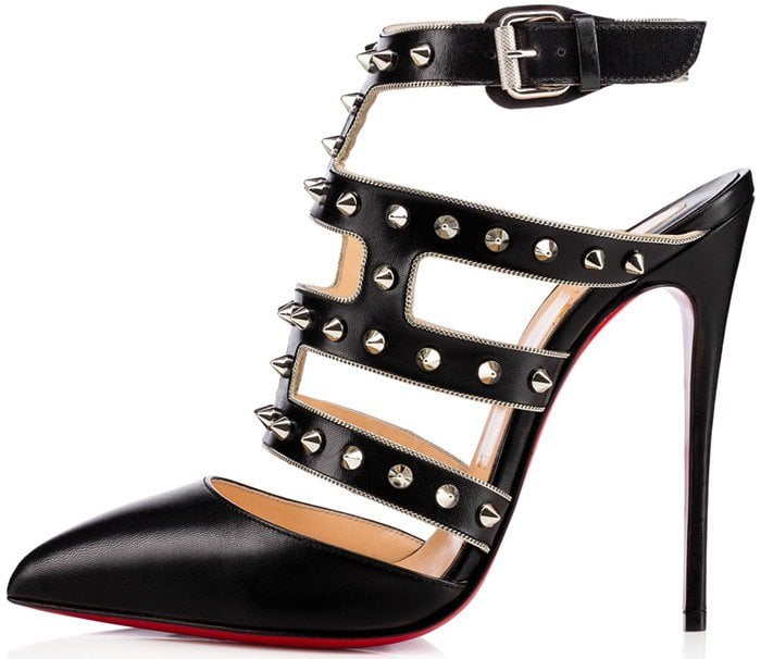 Christian Louboutin Tchicaboum Studded Leather Pumps Side