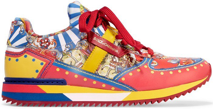 Gabbana's Sicilianosicilian Dolceamp; Carretto CartPrint Shoes 2ID9YbeWEH