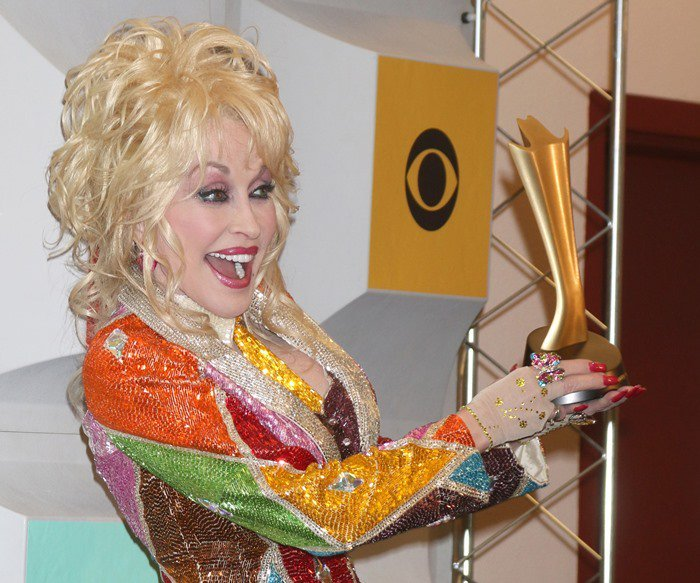 Dolly Parton is awarded the Tex Ritter Award at the 2016 Academy of Country Music Awards