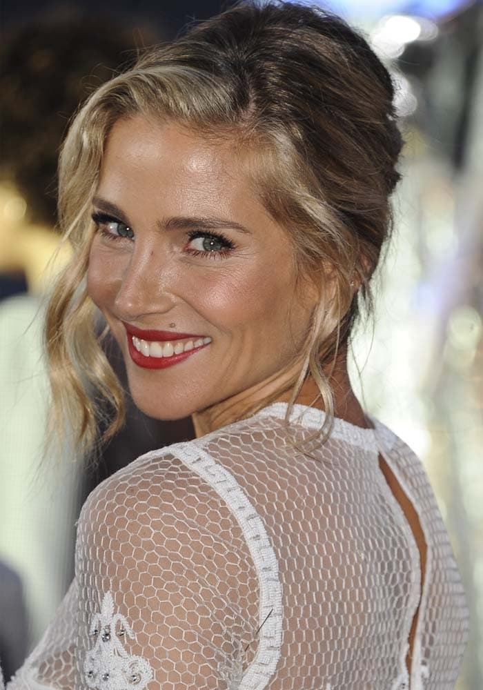 Elsa Pataky wore her hair up for a classic yet youthful look