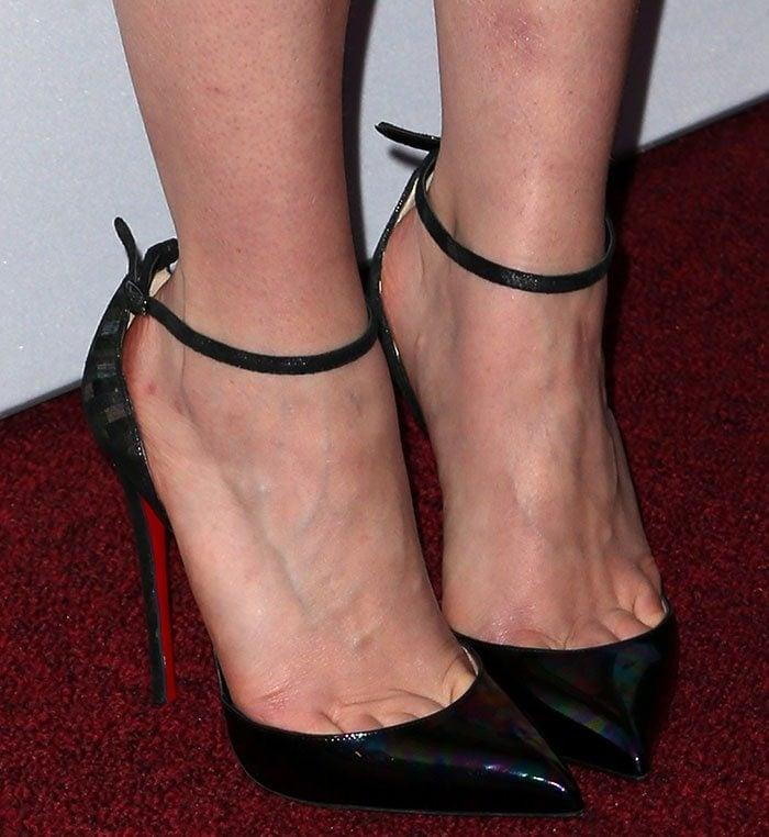 a816fca1571c Emilia-Clarke-Christian-Louboutin-ankle-strap-pumps