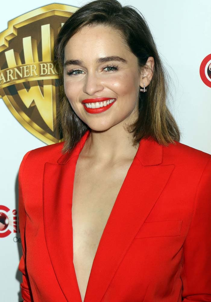 Emilia Clarke CinemaCon Kurt Geiger 1
