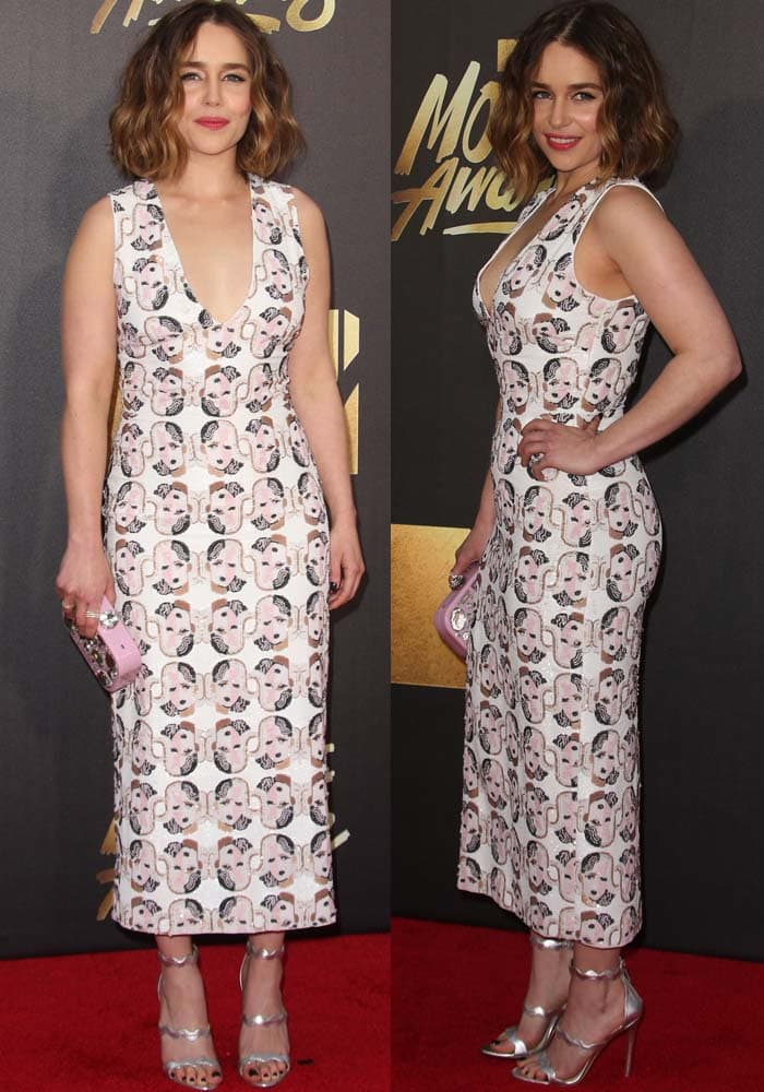 Emilia Clarke MTV Movie Awards Prada 2