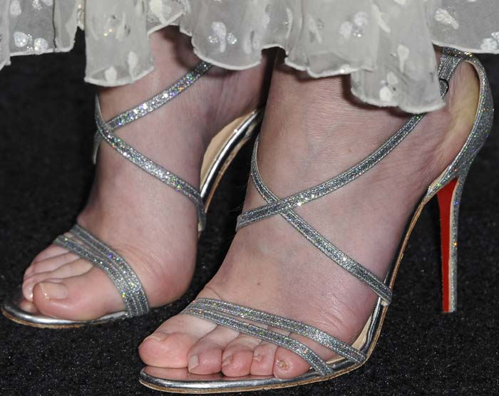 Usually averse to heels due to her pregnancy, Emily Blunt steps out in Christian Louboutin's 'Gwinee' sandals