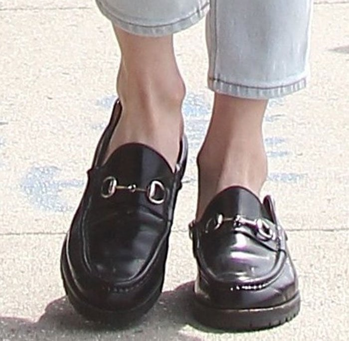 Emma-Roberts-Gucci-Horsebit-detailed-loafers