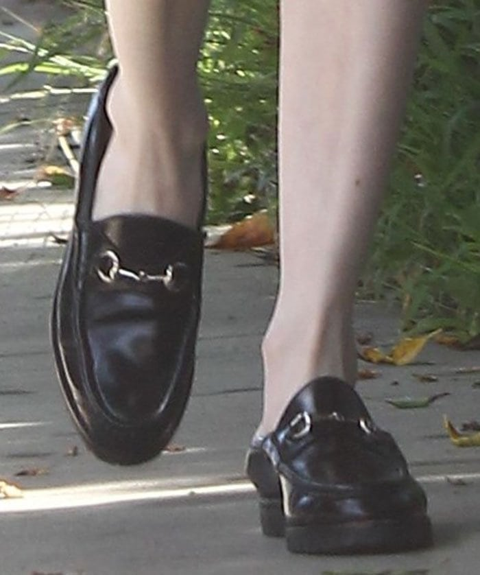 Emma-Roberts-Gucci-Loafers