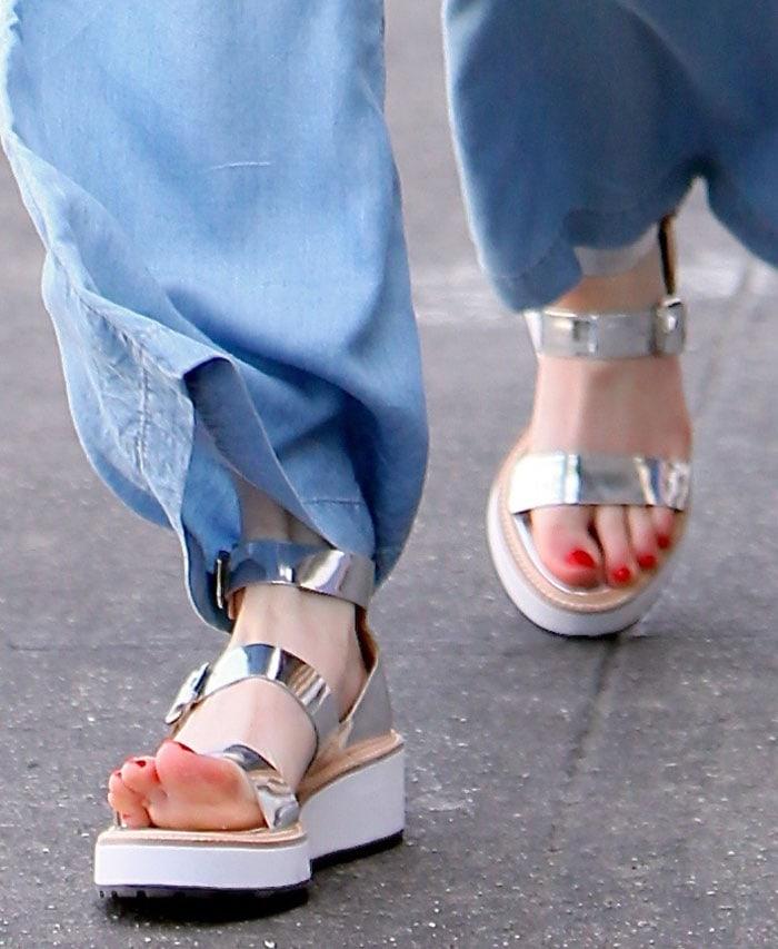 Emma-Roberts-Loeffler-Randall-Silver-Sandals