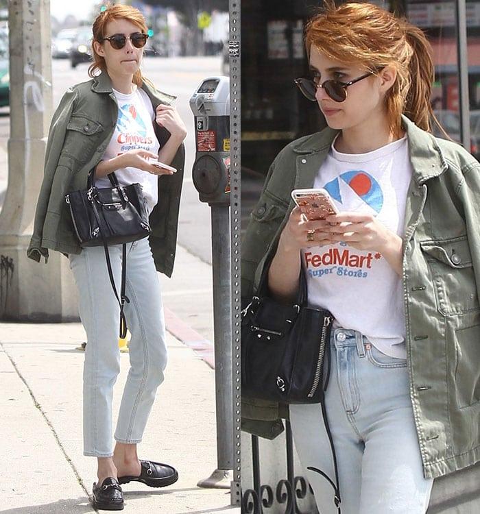 Emma-Roberts-tee-jeans-American-Eagle-jacket