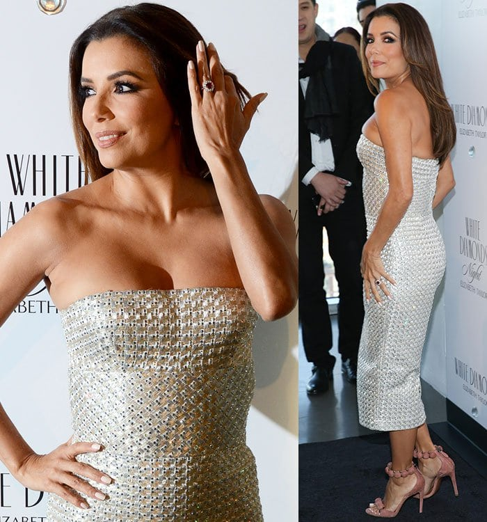 Eva-Longoria-Ermanno-Scervino-silver-embellished-dress