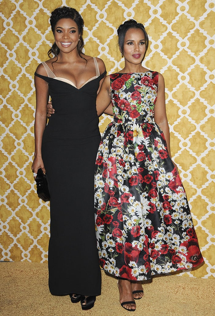 Gabrielle Union and Kerry Washington at the premiere of Confirmation