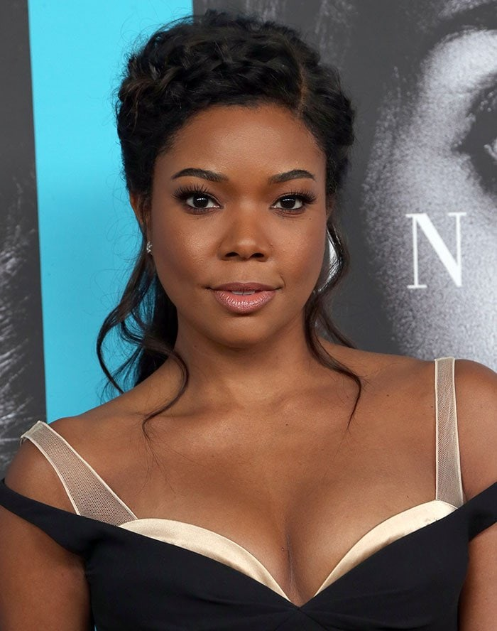 Gabrielle Union's elaborate braided hairstyle