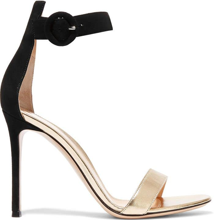 Gianvito-Rossi-Suede-and-metallic-leather-sandals