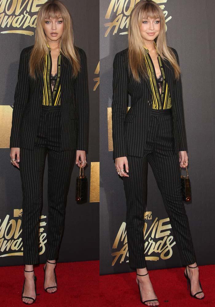 Gigi Hadid MTV Movie Awards Tom Ford 2