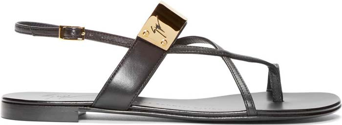 Giuseppe Zanotti Metal Sandal Black 1