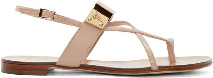Giuseppe Zanotti Metal Sandal Nude 1