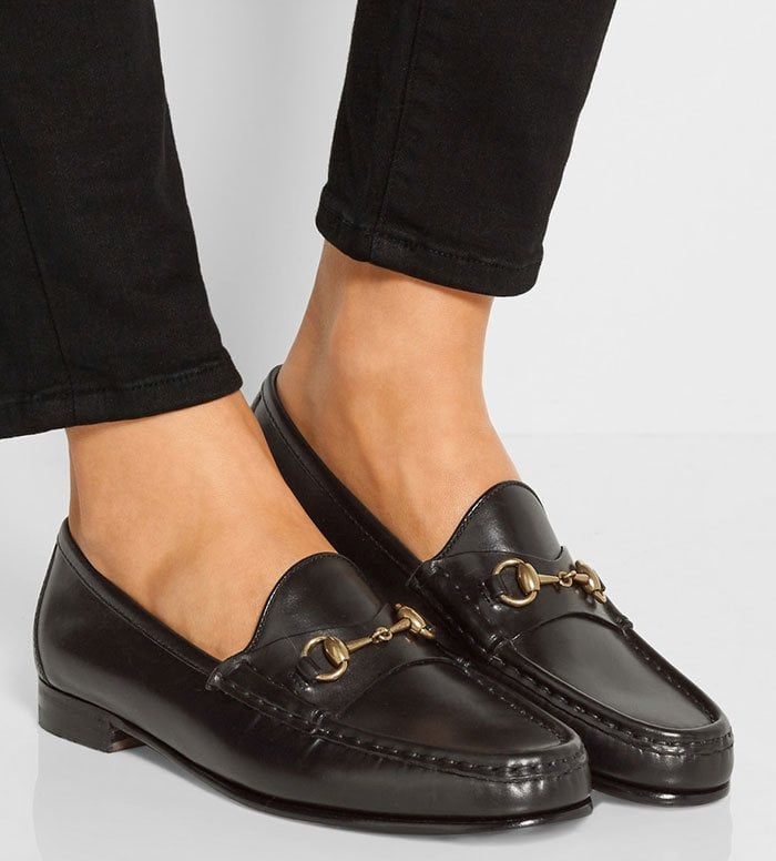Gucci-Horsebit-detailed-leather-loafers-1