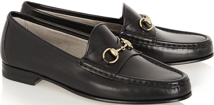 Gucci-Horsebit-detailed-leather-loafers