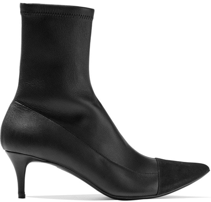Haider Ackermann Suede-paneled stretch-leather boots