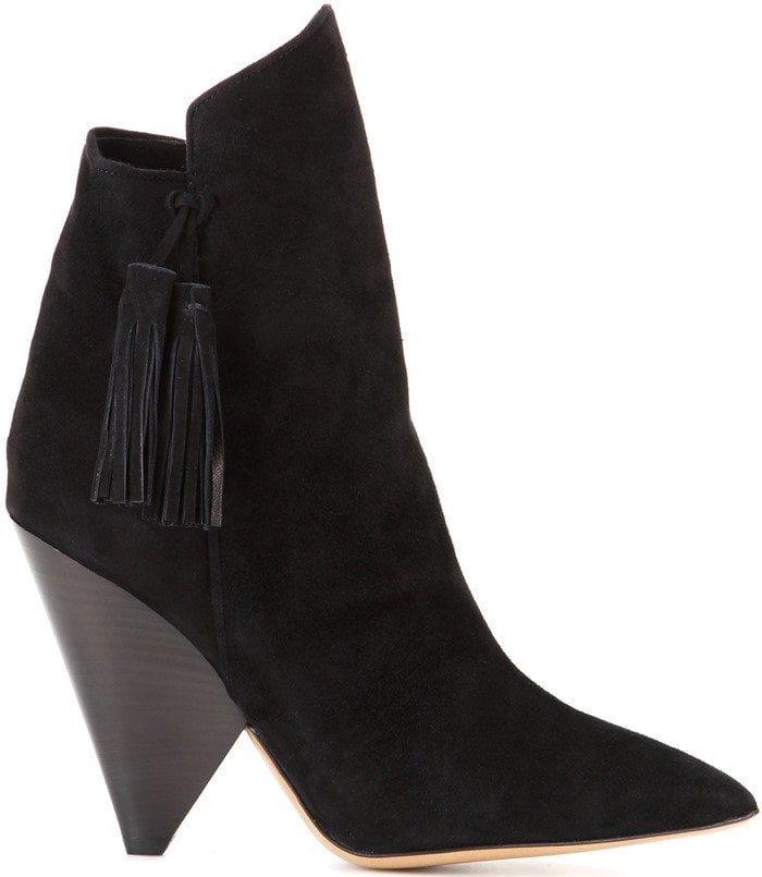 Isabel Marant Leyton suede ankle boots in black suede