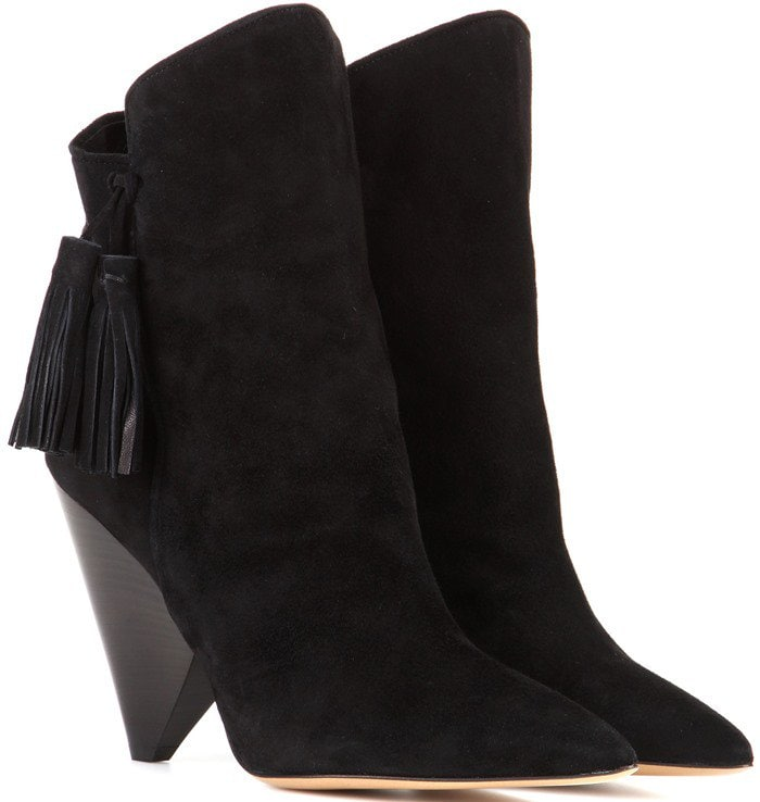 Isabel Marant Leyton suede ankle boots in black