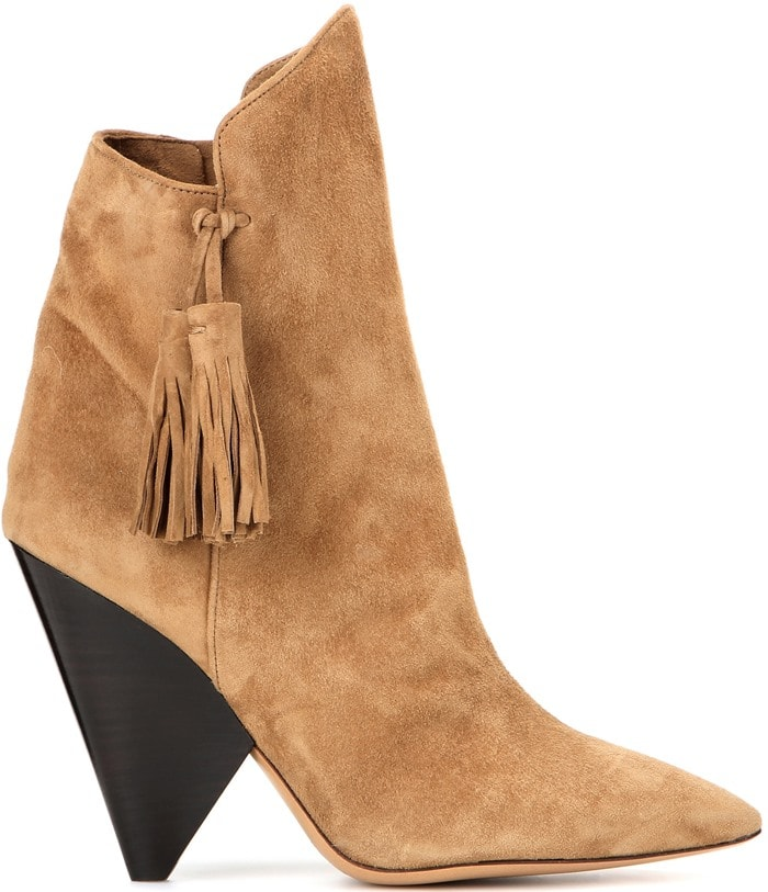 Isabel Marant Leyton suede ankle boots in tan