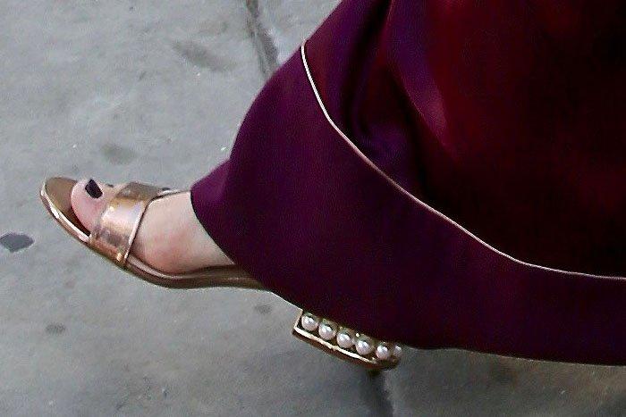 Jaime King Nicholas Kirkwood Casati sandals 1