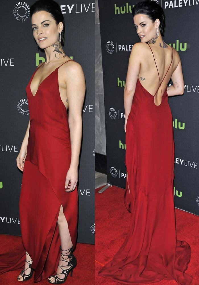 6178f8df3d532 Jaimie Alexander discussed the massive tattoos that she had to put on for  Blindspot