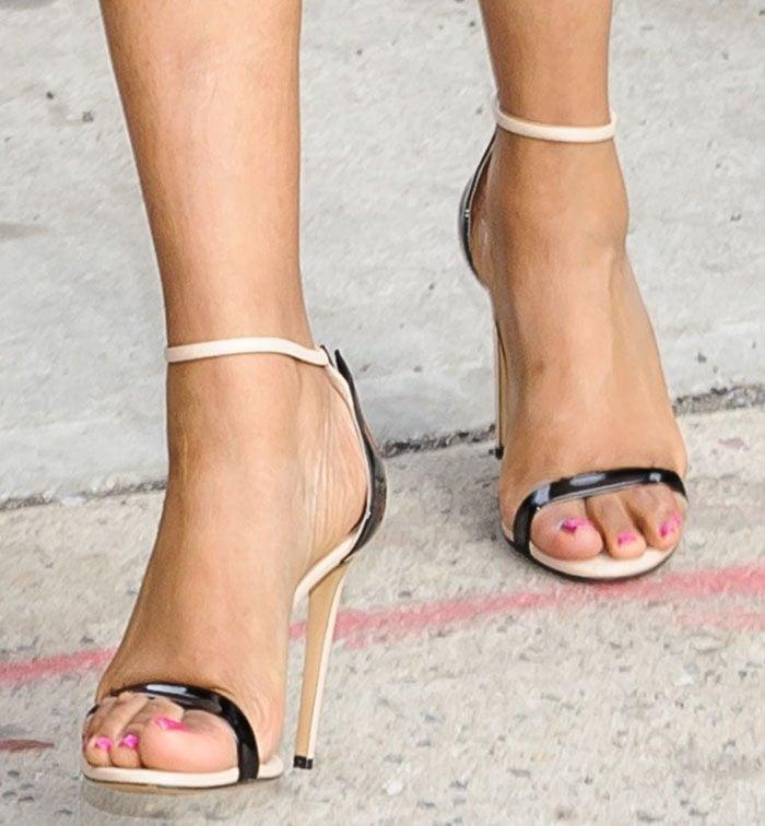 Jennifer Hudson wearing two-tone Casadei heels