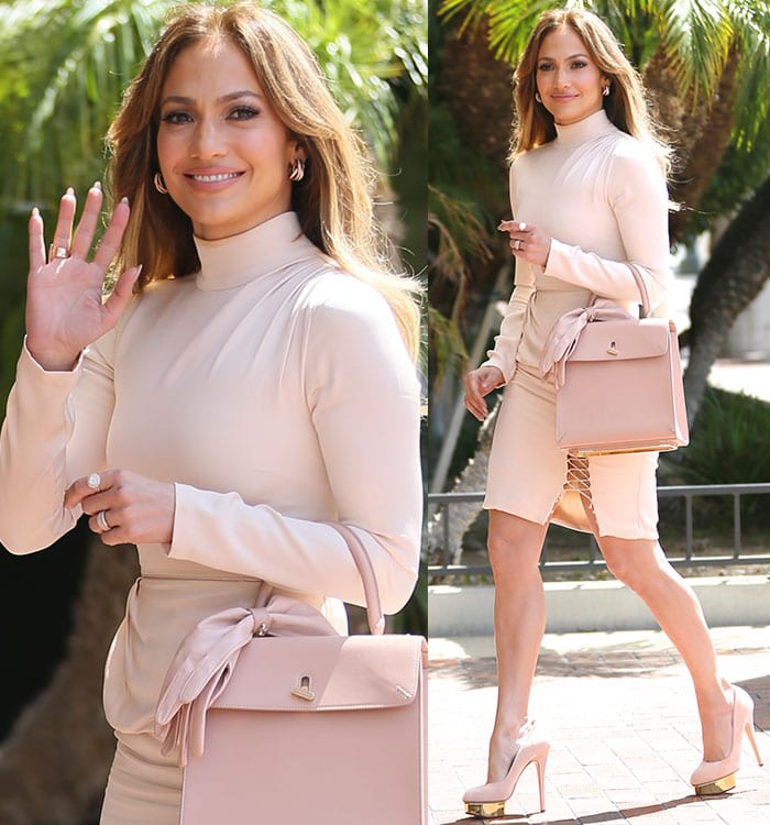 """Jennifer Lopez heads to SAG for Q&A regarding her role in """"Shades of Blue"""""""
