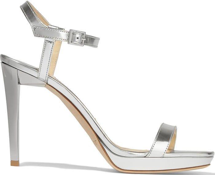 Jimmy-Choo-Claudette-mirrored-leather-platform-sandals