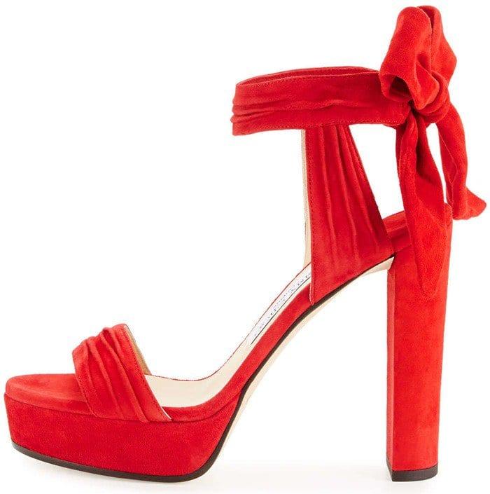 Jimmy Choo Kaytrin Suede 120mm Platform Sandals