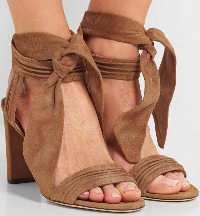 Jimmy Choo Kaytrin suede platform sandals in tan suede