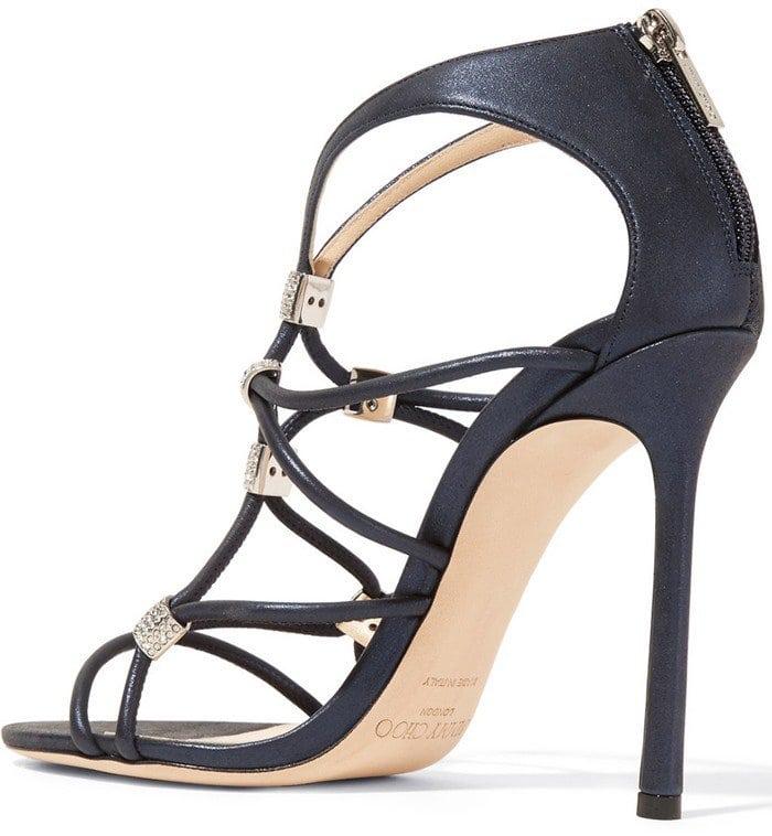 Jimmy Choo Memento Tetrus Swarovski crystal-embellished leather heels
