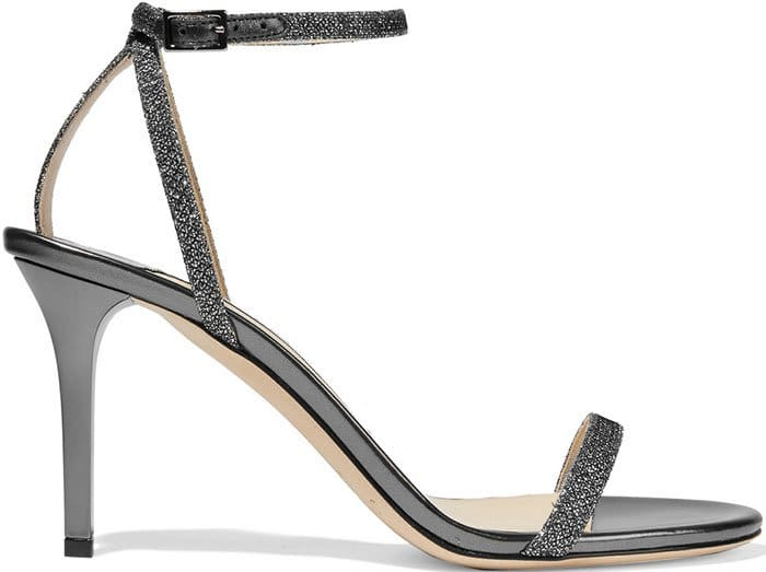 Jimmy-Choo-Minny-textured-lame-and-metallic-leather-sandals