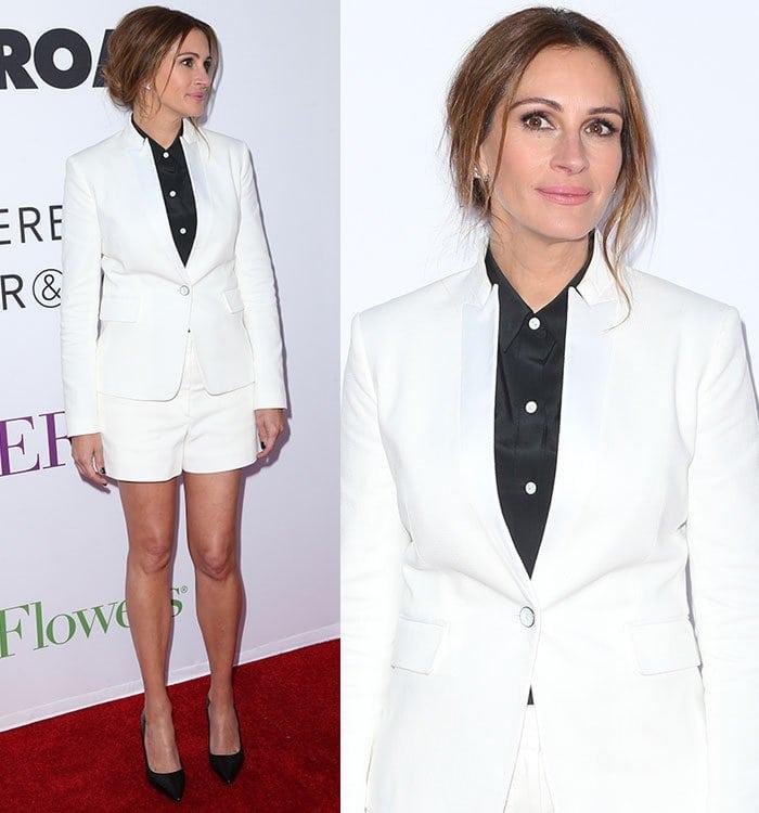Julia-Roberts-legs-white-shorts-suit
