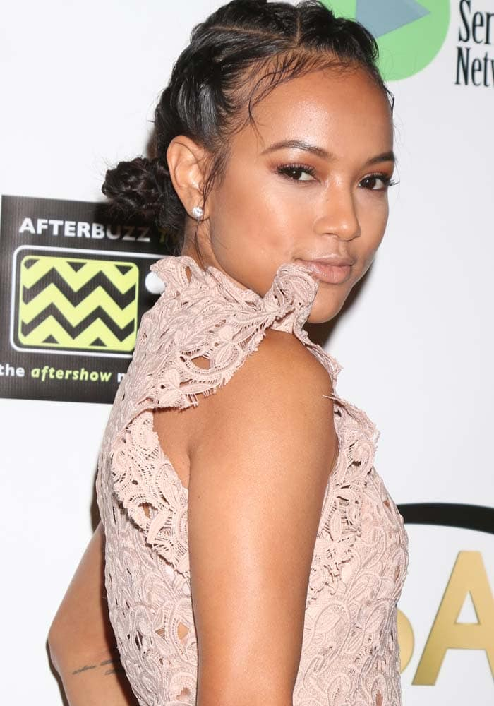 Karrueche Tran has a pretty new take on braided buns