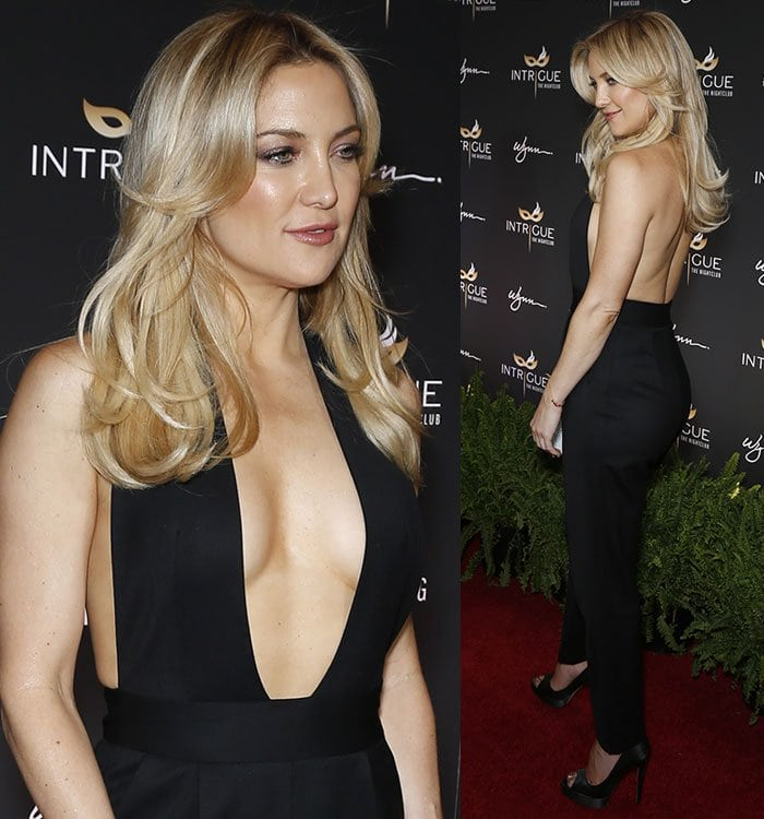 Kate-Hudson-backless-plunging-black-Milly-jumpsuit