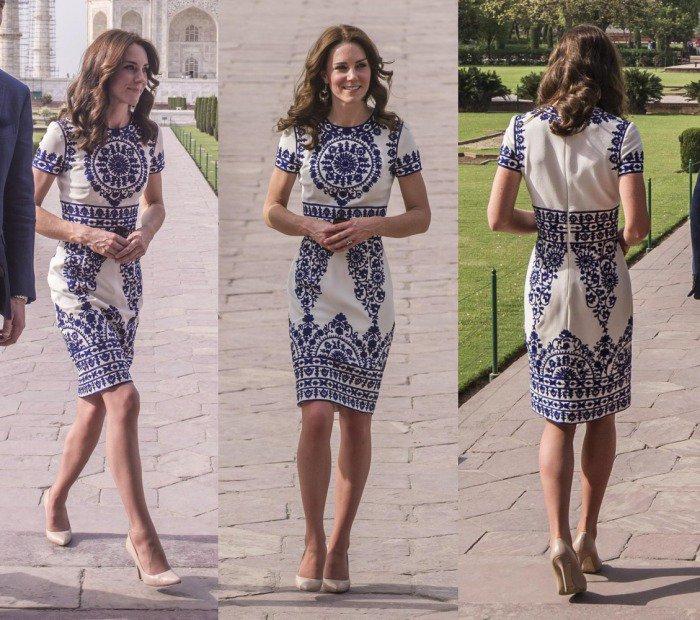Kate Middleton Taj Mahal Nude Pumps 3