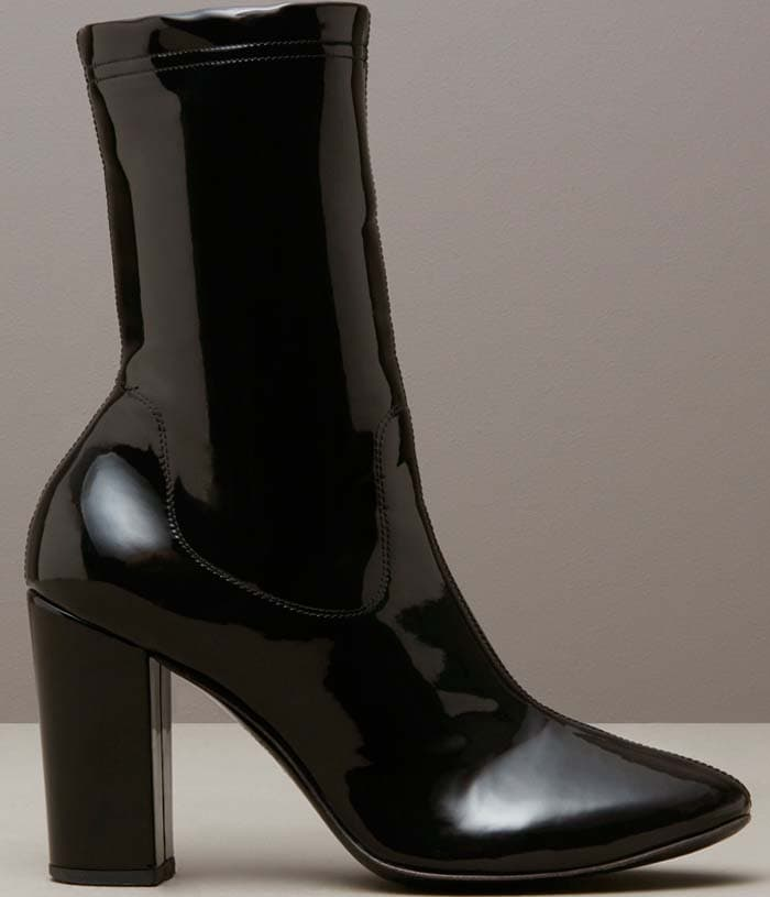 Kenneth Cole Krystal Patent Leather Boot Black
