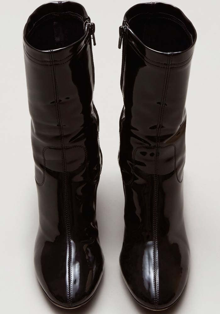 Kenneth Cole Krystal Black Patent Leather Boot