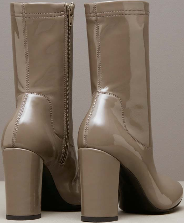 Kenneth Cole Krystal Patent Leather Boot Taupe